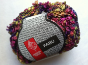 Muench Fabu Boucle Ribbon Yarn - #4317 Fuchsia Pink Purple Yellow-Green 50 Gramme