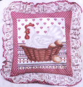 "Elsa Williams - ""Henrietta In Cross Stitch"" Creative Cross Stitch Pillow Kit"