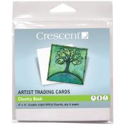 Crescent Artist Trading Cards 10cm x 10cm 4/Pkg-Chunky Book - White
