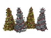 Christmas House Tinsel Tree with Dots Bundle with Garland