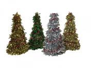 Christmas House Colourful Christmas Tree Bundle with Garland