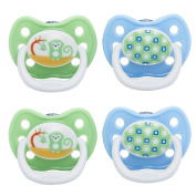 Dr. Brown's 4 Piece Prevent Classic Shield Stage 3 Pacifier, Blue, 12 Plus Month