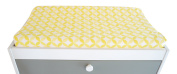 Spot On Square Tops Organic Cotton Fitted Changing Pad Cover, Yellow