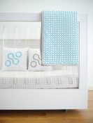 Spot On Square Join Organic Cotton Twill Quilt, Blue
