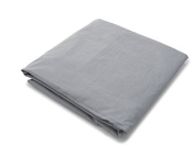Spot On Square Organic Cotton Percale Fitted Crib Sheet, Solid Grey