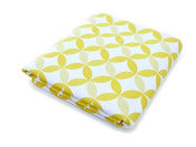Spot On Square Tops Organic Cotton Percale Fitted Crib Sheet, Yellow