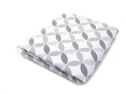 Spot On Square Tops Organic Cotton Percale Fitted Crib Sheet, Grey