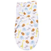 ANDI ROSE Baby Adjustable Infant Swaddle Blanket|Organic Cotton|0-3 Month (Size Small