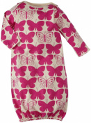 Winter Water Factory Unisex Baby Butterflies Baby Gown (Baby) - Magenta