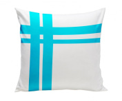 Spot On Square Hashtag Organic Cotton Twill Pillow, Blue