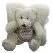 Bear & Blanket Plush Teddy Bear & Blanket Gift Set