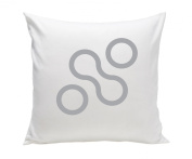 Spot On Square Join Organic Cotton Twill Pillow, Grey
