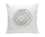 Spot On Square Spun Organic Cotton Twill Pillow, Grey