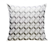 Spot On Square Tops Organic Cotton Twill Pillow, Grey