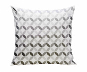 Spot On Square Tops Organic Cotton Twill Pillow, Grey
