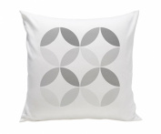 Spot On Square Big Tops Organic Cotton Twill Pillow, Grey