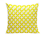 Spot On Square Tops Organic Cotton Twill Pillow, Yellow