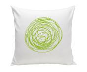 Spot On Square Spun Organic Cotton Twill Pillow, Green