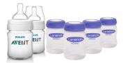 Philips Avent Classic Plus BPA Free Bottles with Milk Storage Bottles, 120ml