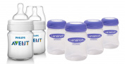 Philips Avent Classic Plus BPA Free Bottles with Milk Storage Bottles, 120ml