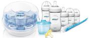 Philips Avent Natural Infant Starter Set with Microwave Steam Steriliser