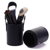 BLACK FRIDAY DEALS CYBER MONDAY SALE easygogo 12pcs Makeup Brush Set Professional Face Cosmetic Brushes Kit Make up Tool with Cup Holder Case Christmas Gifts for Teen Girls