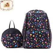 MSM 2 Sets Bag,Mummy Baby Nappy Changing Backpack + Kids Safety Harness,Anti-lost Backpack