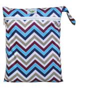 Sweet Pea Cloth Nappy Wet Bag - Chevron Purple