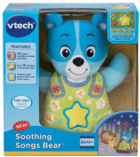 VTech Baby Soothing Slumbers Bedtime Bear, Blue - The Soothing Songs Bear by VTech is sure to help baby relax and fall asleep. - 3 x 17cm x 25cm