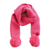 Doinshop 1PC Baby Neck Winter Warm Solid Colour Scarf Boy Girl Knitted Scarf