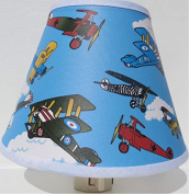 Vintage Aeroplanes Night Light / Children's Aeroplane Room Decor
