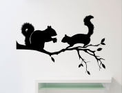 Squirrel Wall Decal Forest Animal Vinyl Sticker Home Nursery Room Interior Art Decoration Any Kids Girl Room Mural Waterproof High Quality Vinyl Sticker