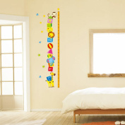 Winhappyhome Circus Monkey Lion Kids Growth Chart Measurement Tree Wall Stickers Removable Nursery Decor Decals