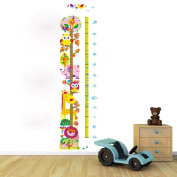 Winhappyhome Cute Owls Kids Growth Chart Measurement Tree Wall Stickers Removable Nursery Decor Decals