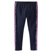 Oshkosh Girl's Heart Puff-stripe Leggings; 6m; Navy