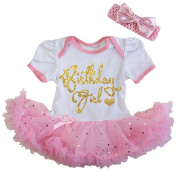 Cute First Birthday Pink White Gold Birthday Girl Tutu Dress Outfit