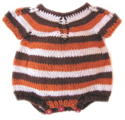KSS Handmade Soft Earth Coloured Striped Onesie 6 Months