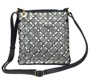 Zzfab Rhinestone Sparkle Swing Maximum Bling Cross Body Bag