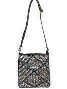 Zzfab Gem Bling Cross Body Rhinestone Sparkle Swing Bag