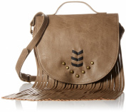 Twig & Arrow Fringe Saddle Cross Body Bag
