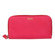 Emilio Pucci Pink Leather Long Wallet 55sm10 Zip Around
