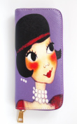 Synthetic Woman Wallet with Card Slots