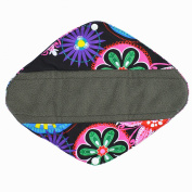 30cm Heavy Flow Charcoal Bamboo Mama Cloth/ Menstrual Pads/ Reusable Sanitary Pads