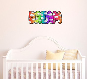 Dream Colour Clouds Text - Contour Cut and Printed Wall Window Door Vinyl Decal © YYDC (Size and Background Choices)