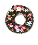 Artificial Fir Christmas Wreath-Artificial Door Crown, 30cm diameter