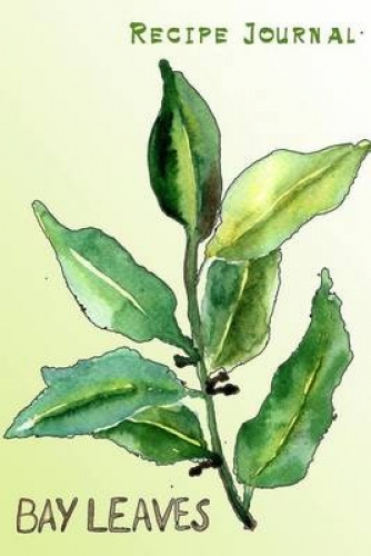 Recipe journal watercolor bay leaves cooking journal lined and numbered blank 9781519484758 ebay - Cook bay leaves ...