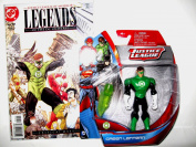 """Green Lantern Gift Pack !! EXCLUSIVE Justice League Action Figure & COLLECTIBLE DC Comic Book """" Justice League Of America Legends Of The Universe Critical Mass"""" Issue #12 January 2009"""