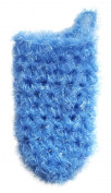 Anti-bacterial bath mitten crocheted by hand - free handmade travel size soap
