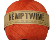 Hemp Twine Orange 20# 1mm 430Ft 130m