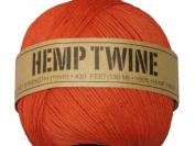 Hemp Twine Orange 20# 1mm 430Ft 130m